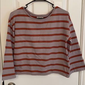 Madewell boxy crop sweater, size small